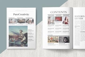 Pure Creativity Magazine Template