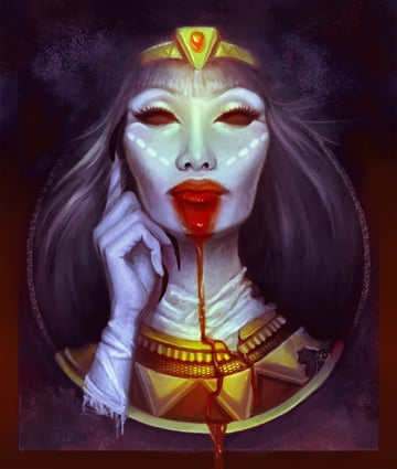 Finished Cleopatra illustration in Adobe Photoshop