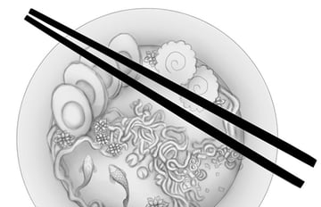 Fill the Chopsticks with Black