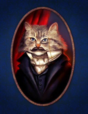 Final Result for Painting a Dapper Cat in Photoshop
