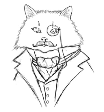 Clean Up the Cat Sketch