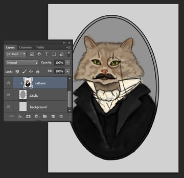 Paint the Base Colors on a Clipping Mask