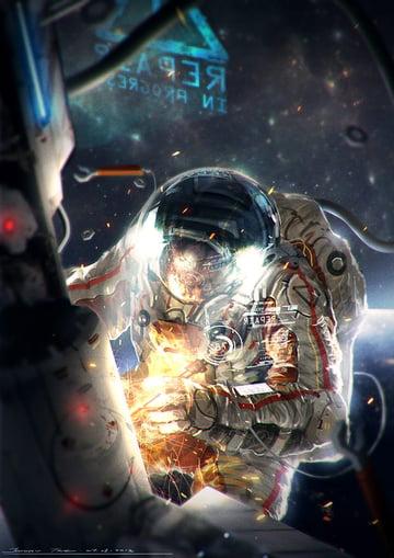 Astronaut Illustration by Johnson Ting
