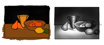 Use Thumbnail Drawings to Pick Colors and Lighting Scheme