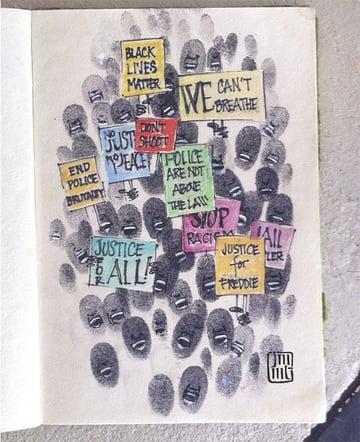 Black Lives Matter Art by Jacqueline Thompson