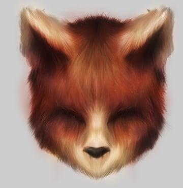 Custom Photoshop Brush Animal Fur Effect by Mary Winkler