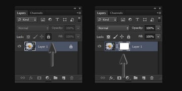 Unlock Layers to Work with Layer Masks