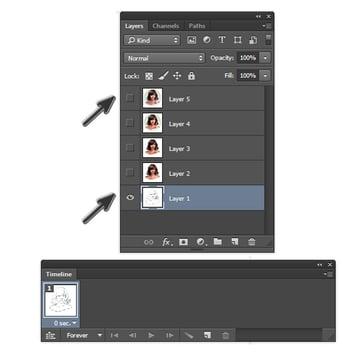 Setup GIF Animated Photoshop Action