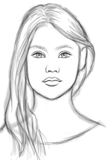 Sketching and Drawing in Photoshop Art Tutorial by Melody Nieves