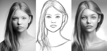 Digitally Paint Faces and Portraits in Adobe Photoshop Tutorial by Melody Nieves