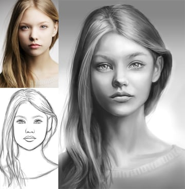 Digitally Paint Faces without Tracing in Adobe Photoshop Art by melody nieves