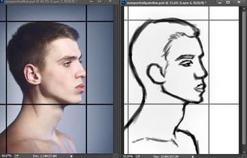 Sketching Male Faces Accurately in Photoshop
