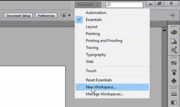 Creating Custom Workspaces in Adobe Illustrator