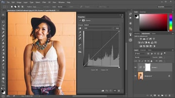 Histogram in the Curves Adjustment Layer