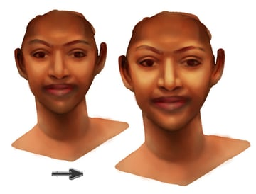 Painting Warm Highlights on Skin with Overlay