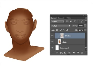 Painting Shadow for Skin Tones