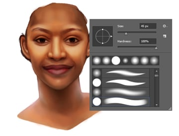 Smooth Out Skin Tone for Digital Paintings in Adobe Photoshop
