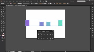 Using the Distribute Objects function in the Align Panel
