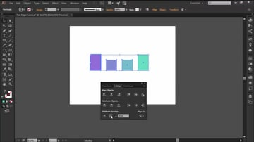 Using the Distribute Spacing Option in the Align Panel