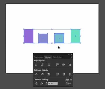 The Align Panel in Adobe Illustrator