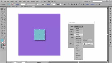 Changing the Drop Shadow Blend Mode in Adobe Illustrator