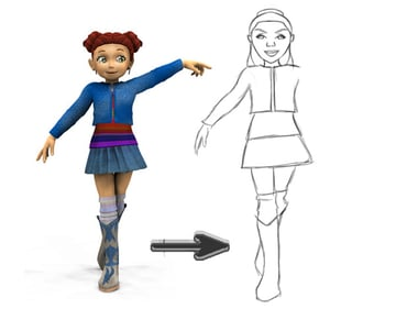 Sketch Poses from 3D References in Adobe Photoshop