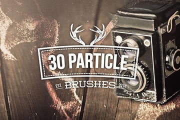30 Particle Photoshop Brushes