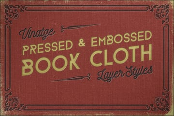 Vintage Pressed Book Cloth Styles