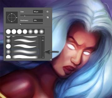 Use Soft Photoshop Brushes to Paint Skin