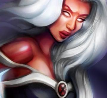 Painting the X-men Logo Onto Storm