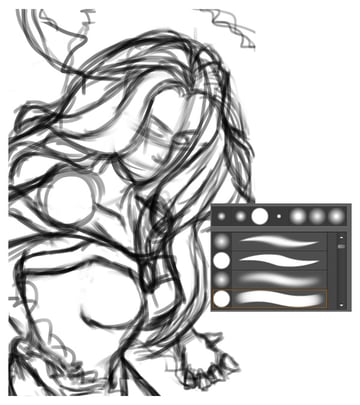 Drawing a Rough Sketch of Storm
