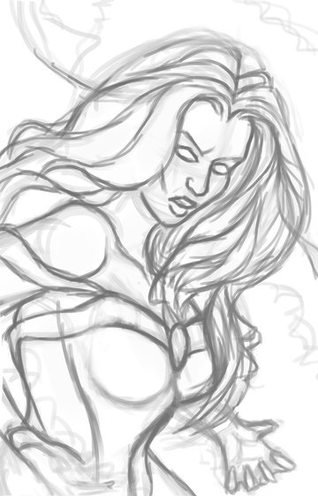 Draw a Cleaner Sketch of Storm in Photoshop