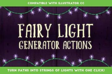 Fairy Light Generator - Illustrator Actions