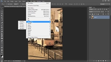 How to Access the Blur Gallery in Photoshop