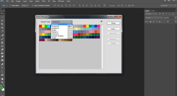 Setting the Brush Preset Type to Brushes in Photoshop