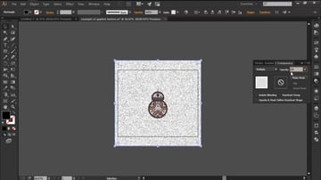 Adjusting the Blend Mode and Opacity for Texture in Illustrator