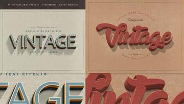 Vintage Retro Cool Text Effects Photoshop