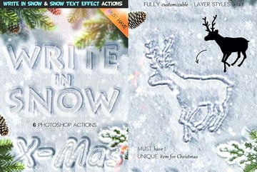 Snow Great Text Effects Photoshop Actions