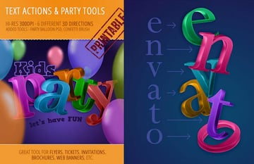 Party Tools Kit Great Text Effects Photoshop
