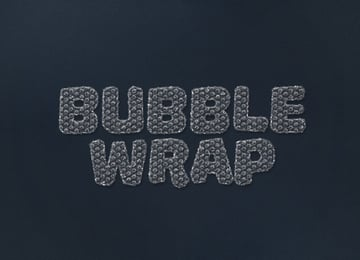 Bubble Wrap Text Effect Adobe Photoshop