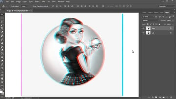 Shift the Layers Right and Left to Create a 3D Effect