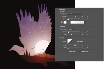 Create Stars with the Brush Tool and Outer Glow