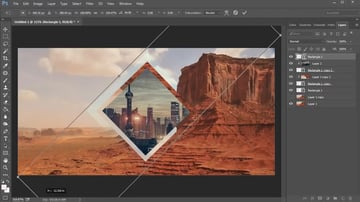 Create a Square Stretched Over the Canvas