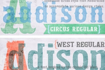 Addison Decorative Font Examples