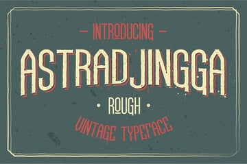 Astradjingga Rough Serif Font