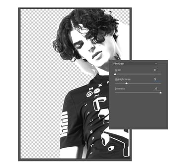 Use the Filter Gallery to create a Grunge Effect