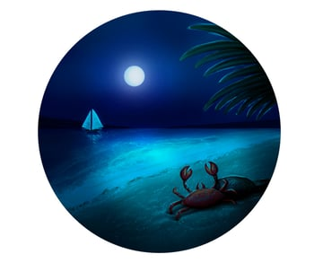 Paint the Moon and Glow onto the Water