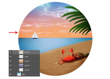 Use the Gradient Tool to add a Sunset