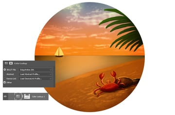 Add a Color Lookup Layer for the Sunset