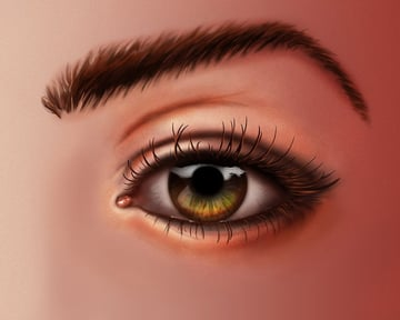 Eye painting by Sabrina Hutchinson